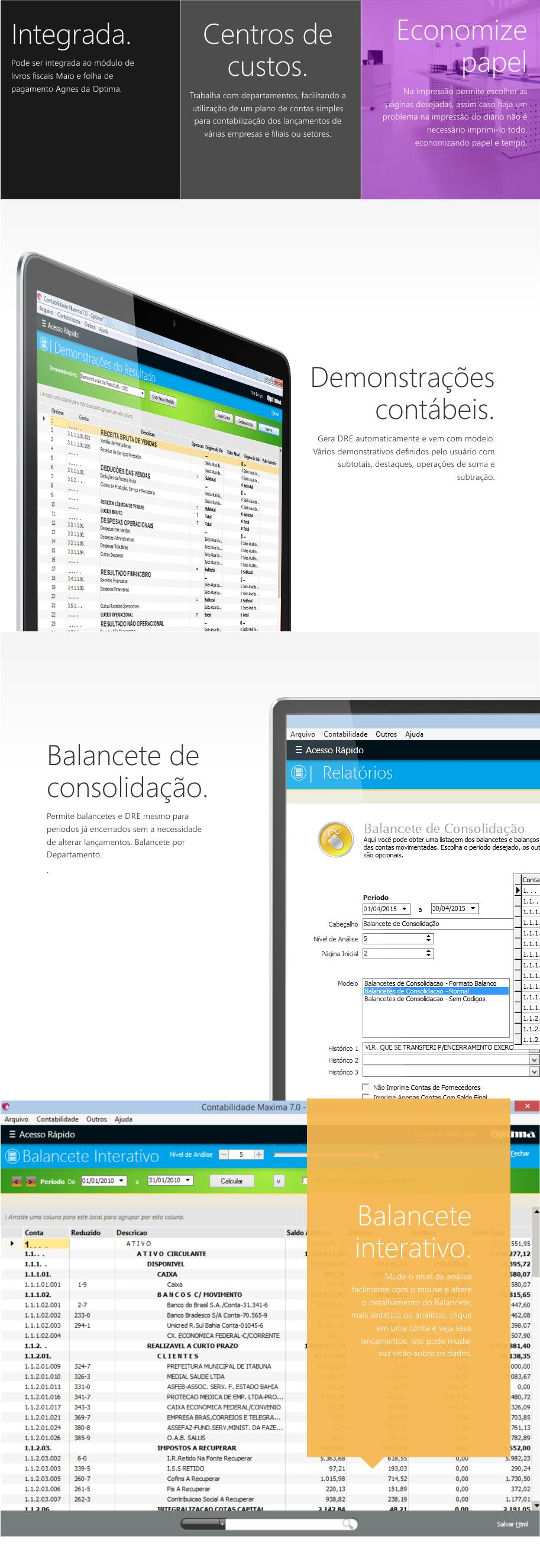 Contabilidade Máxima - contabilidade geral, balanço, livro diário, razão analitico, balancetes, demonstrações contabeis, livro caixa,SPED,FCONT, gerencial